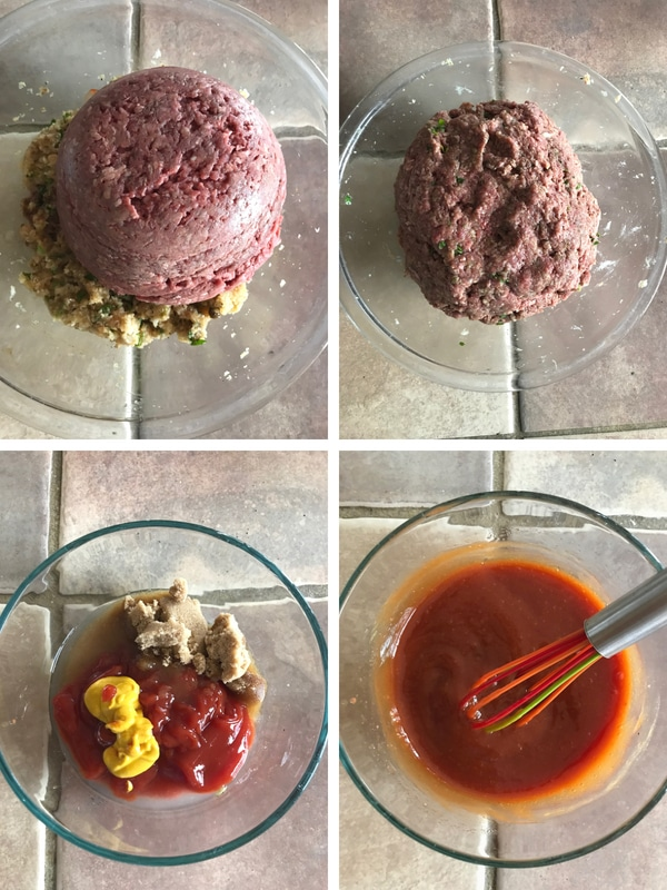 steps for making home style moist meatloaf.