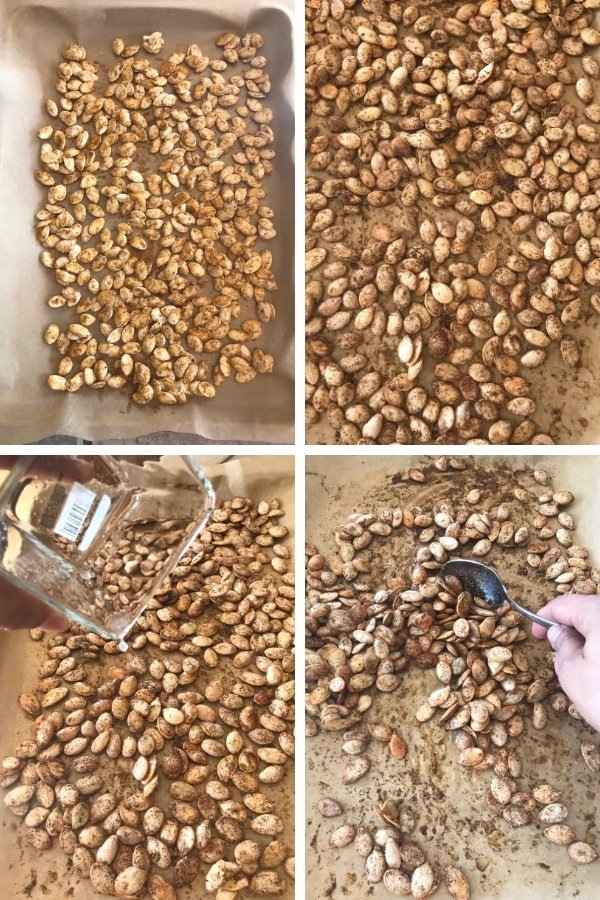 Steps for making shawarma roasted pumpkin seeds