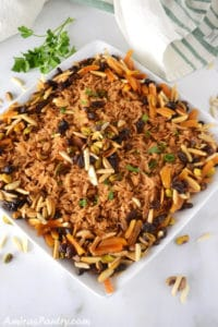 Mediterranean Rice Pilaf; With Nuts And Dried Fruit