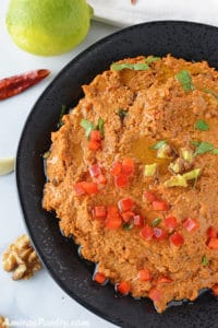 Muhammra; Roasted Red Pepper And Walnut Dip
