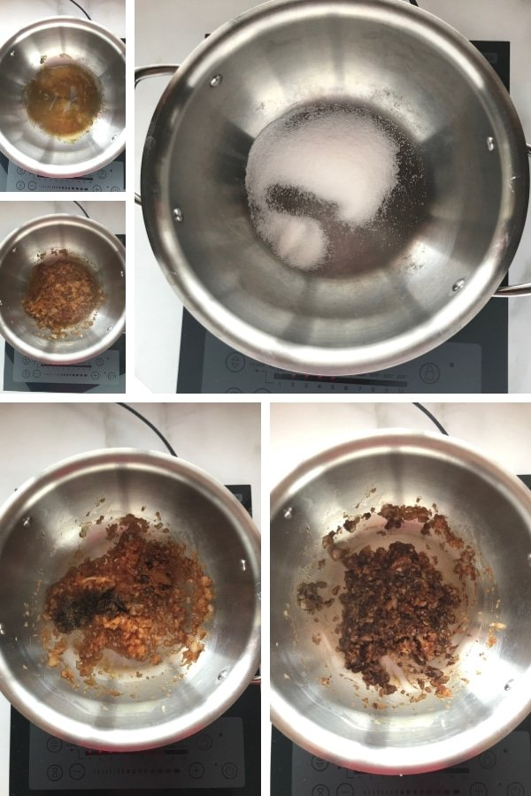 Step by step photos for making rice pilaf recipe