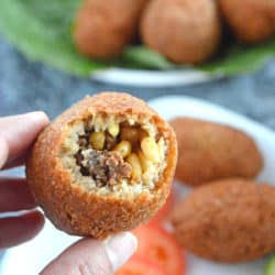 A close up of stuffed kibbeh