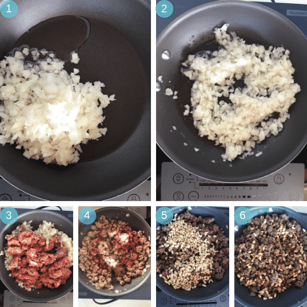 Step by step photos for making Kibbeh and Bulgur