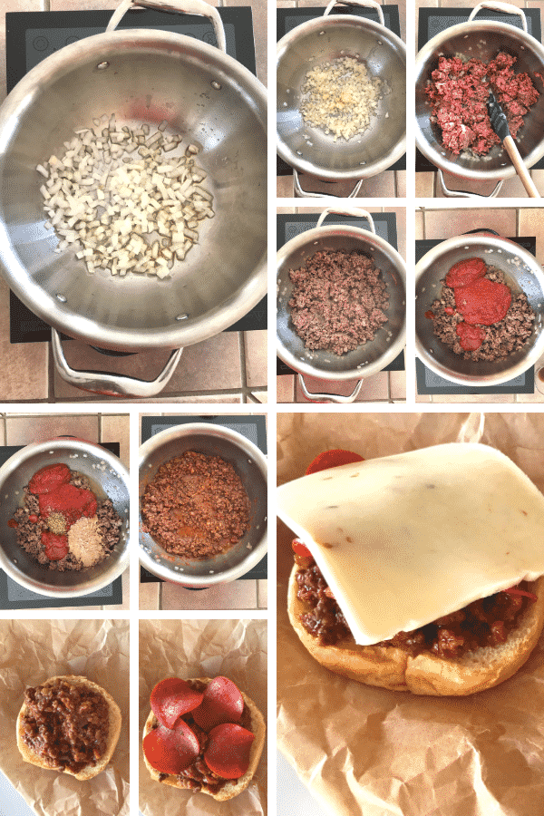 how you can make pizza burger step by step photos