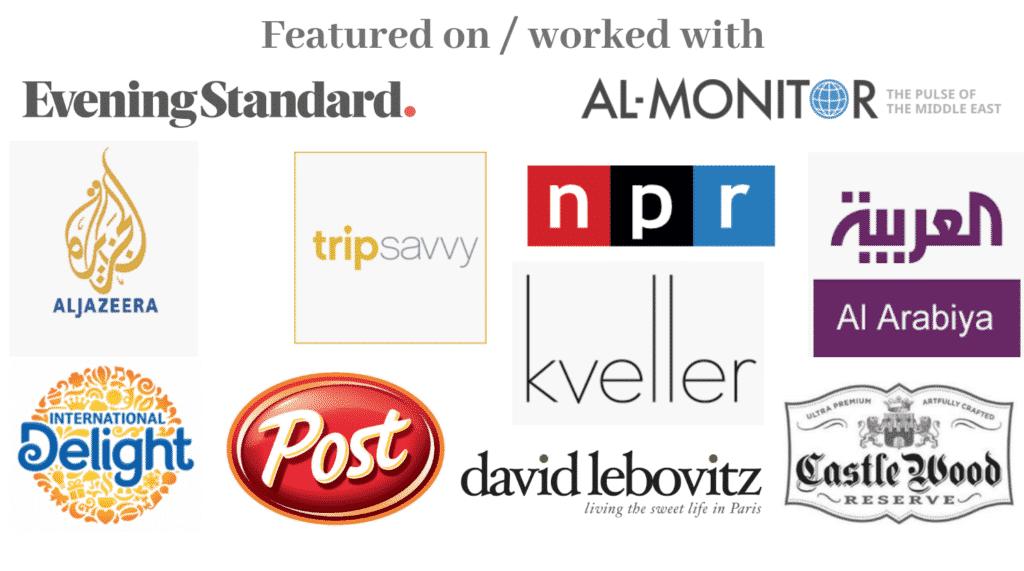 An infograph of brands