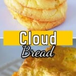 A pinterest collage for cloud bread.