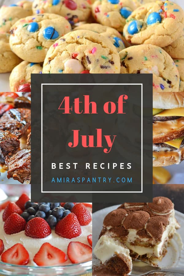 An infograph for 4th of July recipes