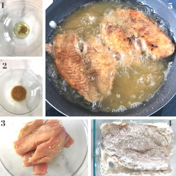 Step by step photos for pan fried tilapia