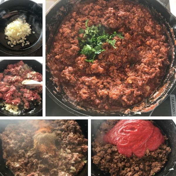 step by step photo of making shawarma sloppy joes recipe
