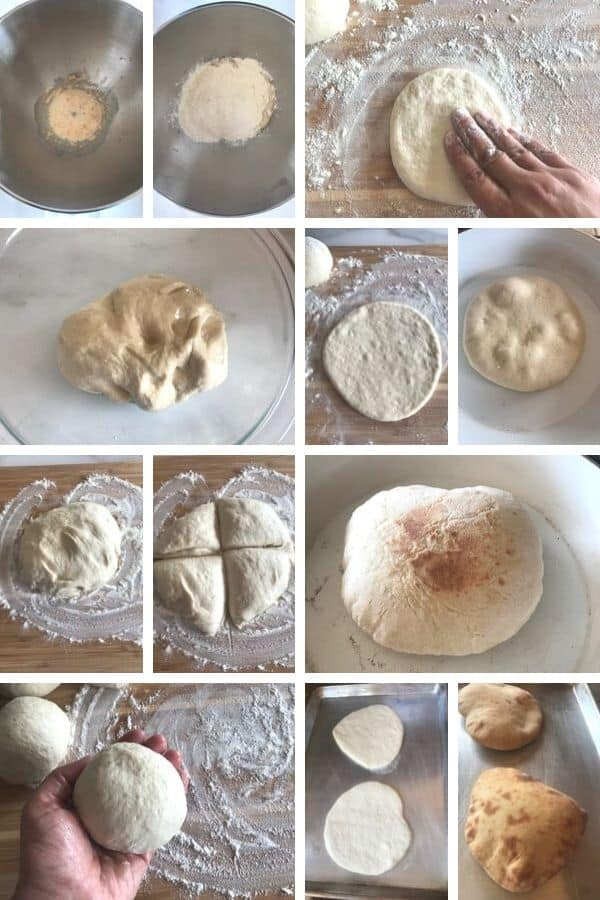 steps for making pita bread