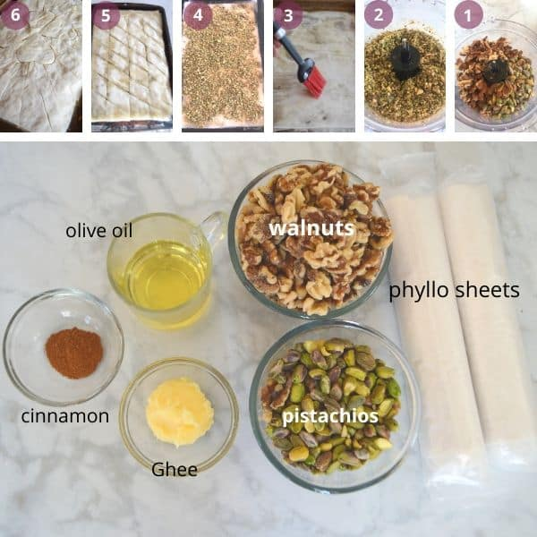 step by step images for making baklava