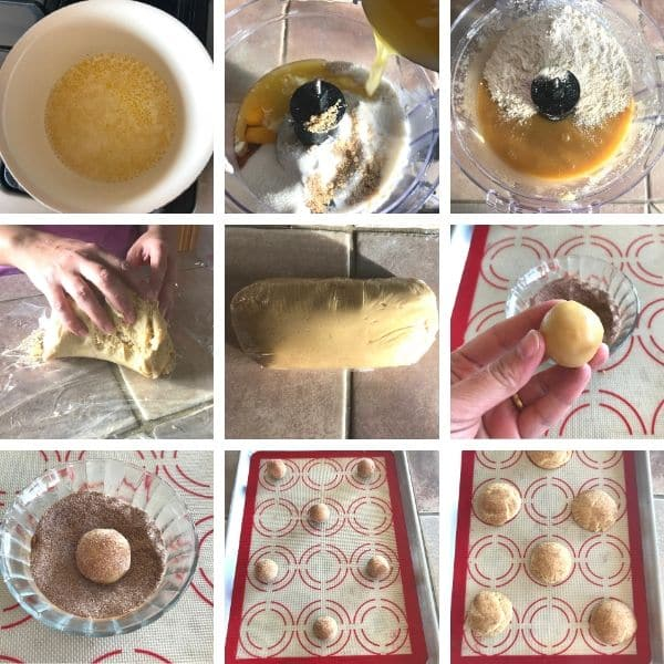step by step for making snickerdoodle cookies