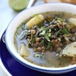 A bowl of soup, with Lentil