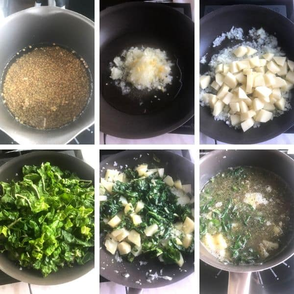 steps for how to make Lebanese lentil soup