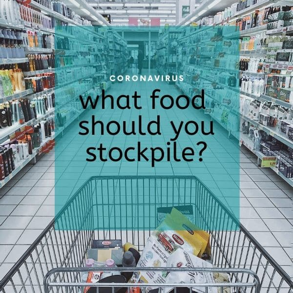 an inforgraph of what food to stockpile