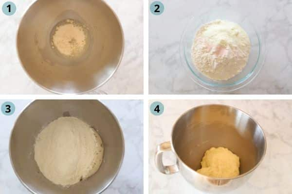 Step by step photos for making Sfiha and Dough