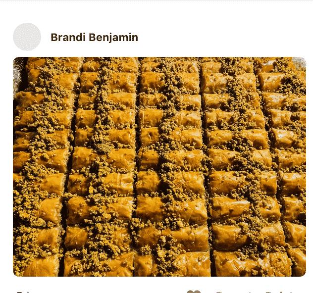 Baklava rolls on a sheet pan, made by a fan