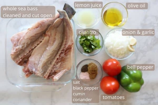 baked sea bass ingredients