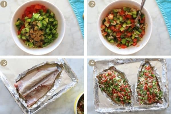 step by step guide to making sea bass