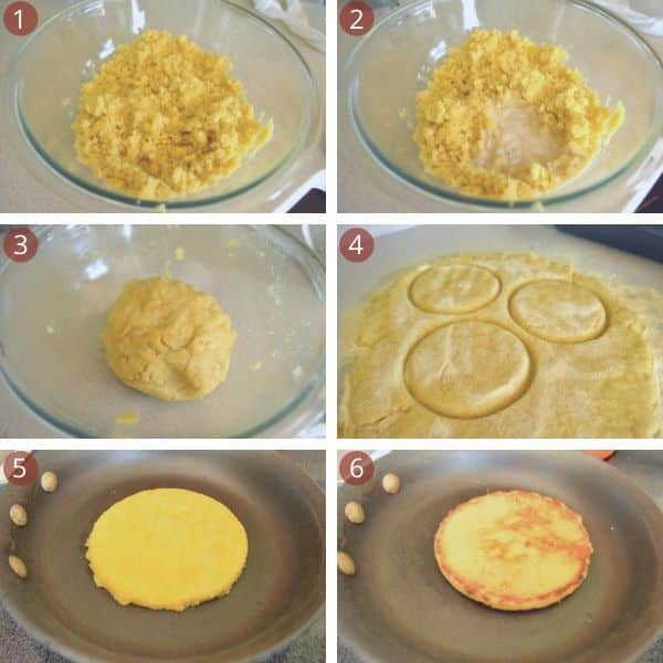 step by step for making Harcha