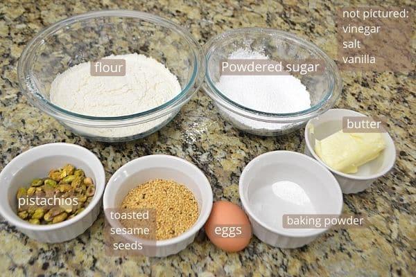 Barazaek cookies ingredients