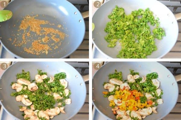 warm kale salad step by step