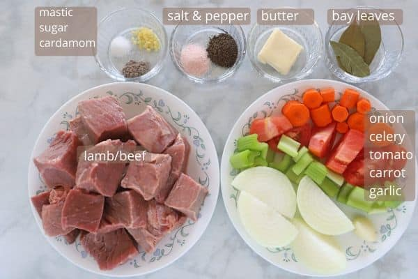 Egyptian fattah meat ingredients