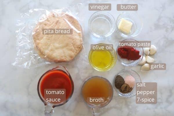 Egyptian fattah sauce ingredients