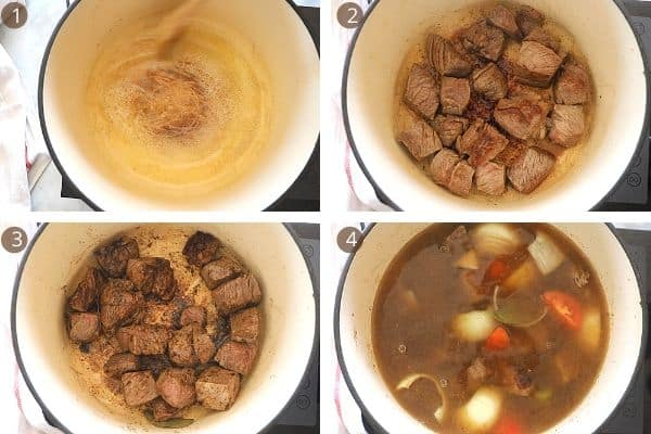 steps for making beef broth.