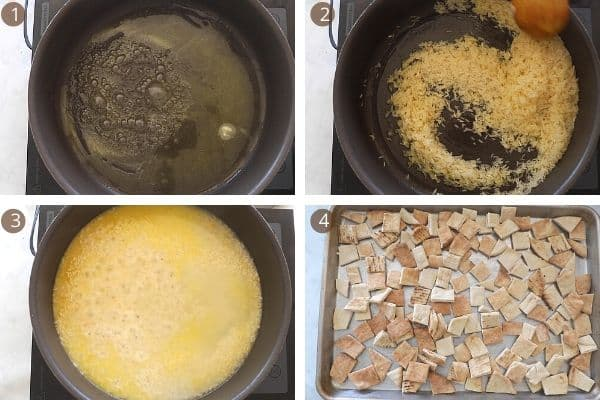 steps for making rice for fatteh