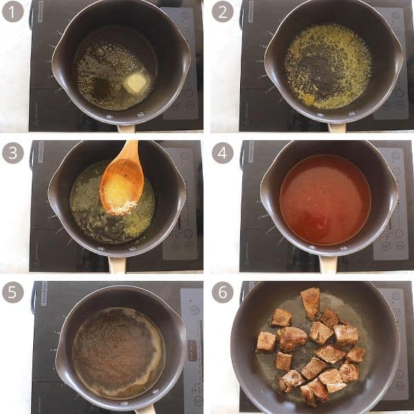 steps to make fatteh sauce.