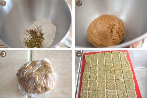 steps for making homemade flatbread crackers