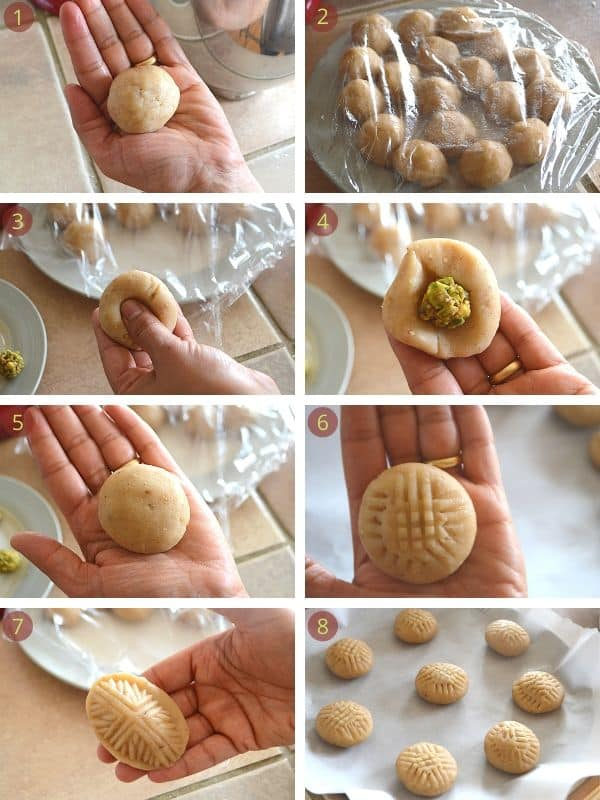 steps for shaping and baking kahk