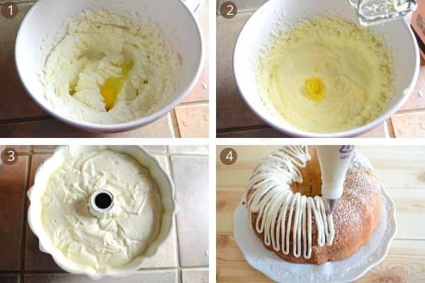 steps for making lemon pound cake