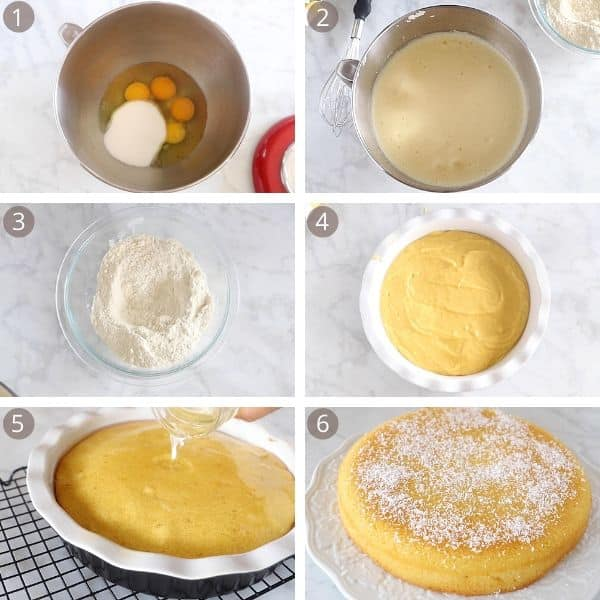Steps for making Revani cake