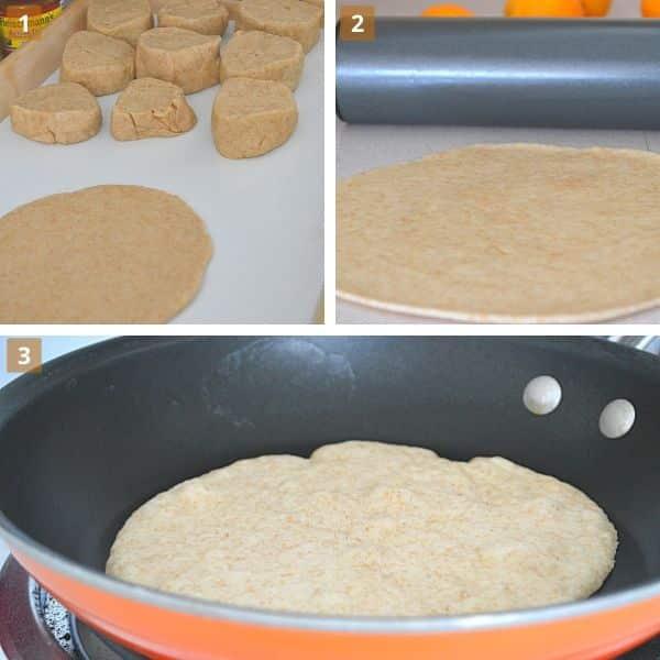 steps to make skillet flatbread