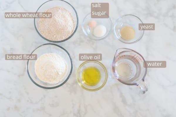 Whole wheat pita bread ingredients