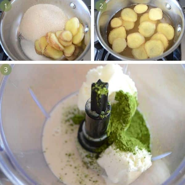 Steps for making matcha smoothie