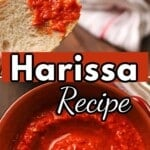 A pinterest collage for Harissa.