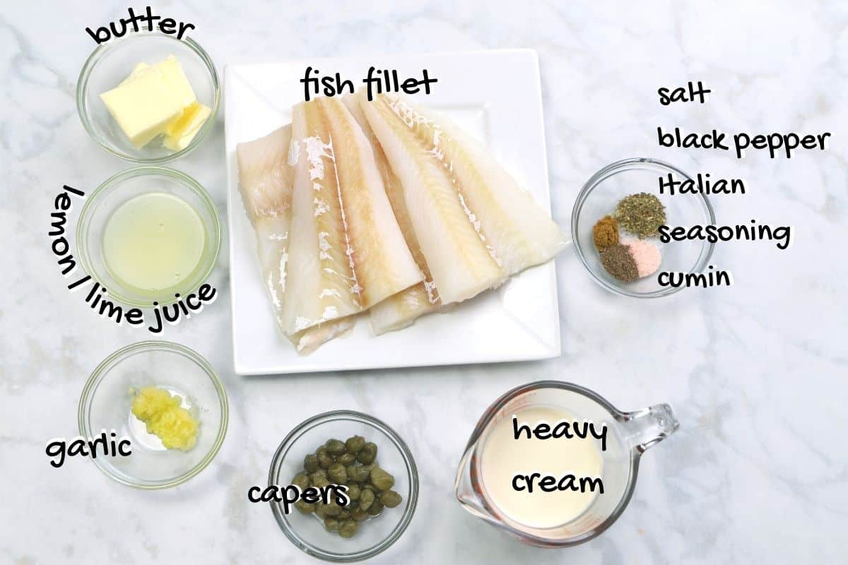 fish with cream ingredients
