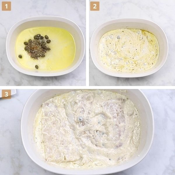 fish with cream step by step.