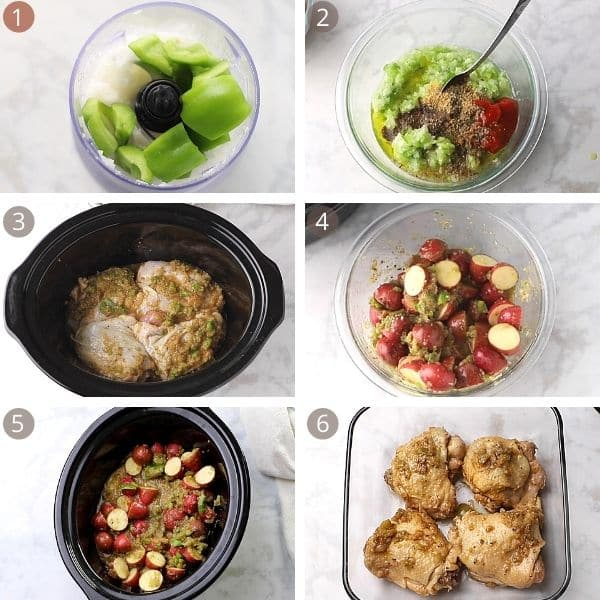 slow cooker chicken thighs steps