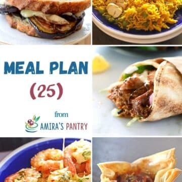 A collage of recipes from this wek's meal plan